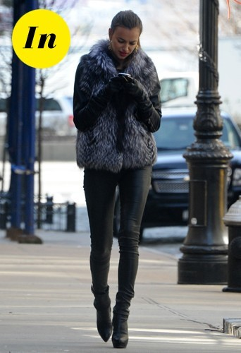 Irina Shayk dans un slim J Brand en janvier 2012.