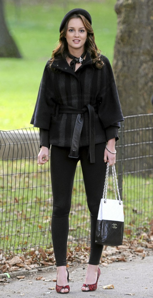 Le look total black de Blair Waldorf !