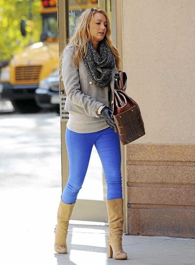 Le slim bleu outremer de Serena van der Woodsen !