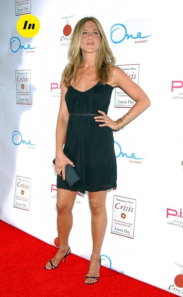 La mini-robe noire drapée de Jennifer Aniston en Juin 2007 !