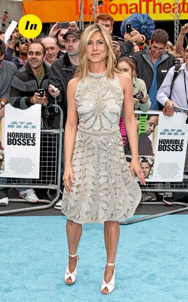 La robe Valentino et les chaussures Tom Ford de Jennifer Aniston en Juin 2011 !