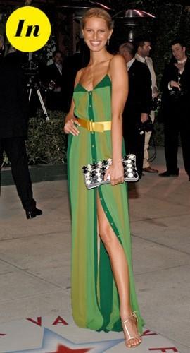 Une très jolie robe verte portée lors de la soirée Vanity Fair de 2005