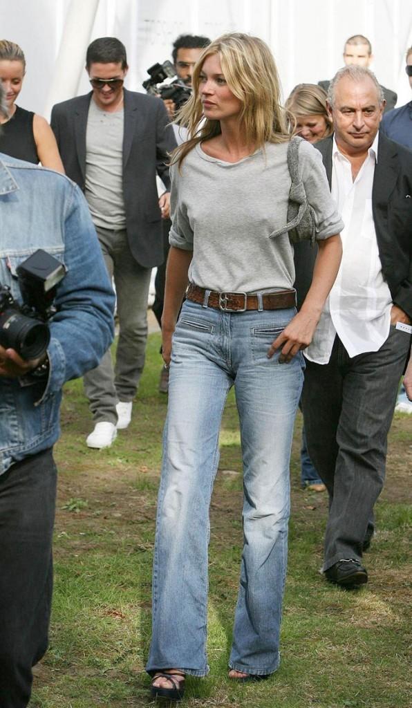 Looks de Kate Moss : un jean flare (déjà !) en septembre 2006