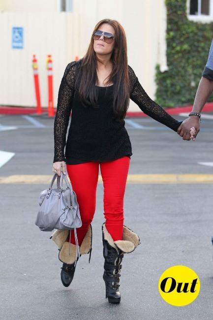 Drôles de bottes miss Kardashian..