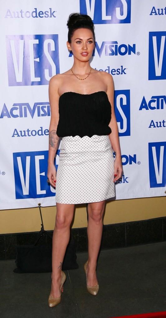 Megan Fox en mode bicolore !