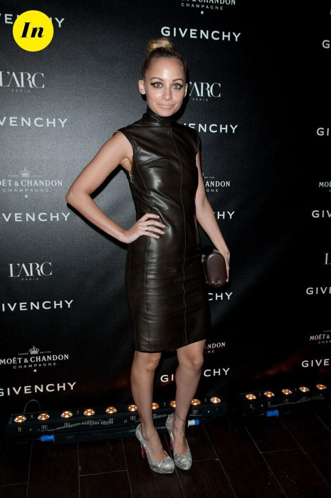 Look de Nicole Richie :  une robe en cuir en mars 2011