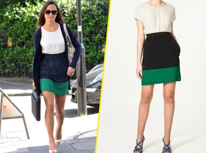 La robe color block Zara de Pippa Midldleton
