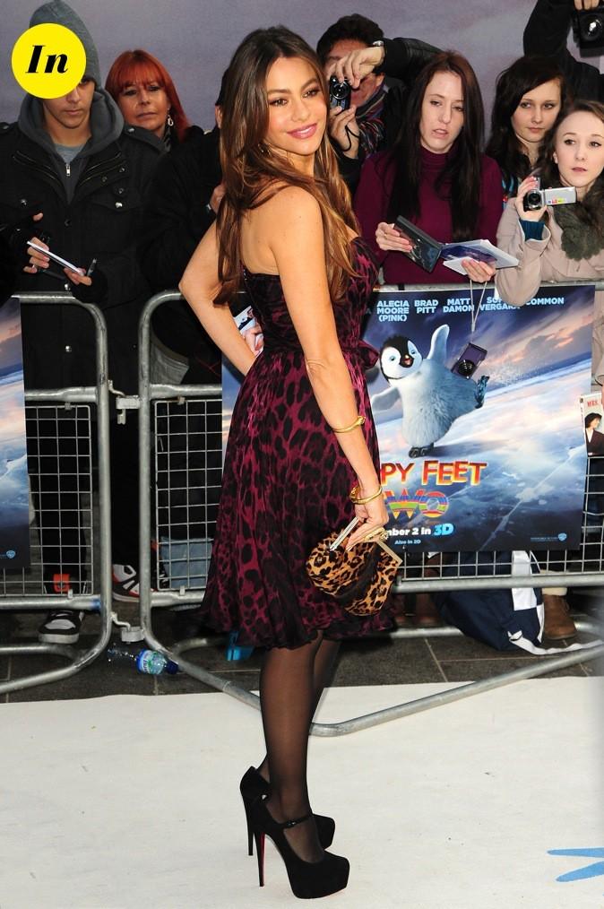 Sofia Vergara lors de la Première de Happy Feet 2 à Londres !