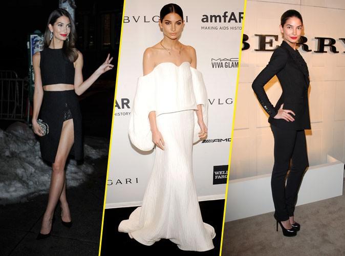 Looks de stars : c'est black or white pour le CV fashion de Lily Aldridge !