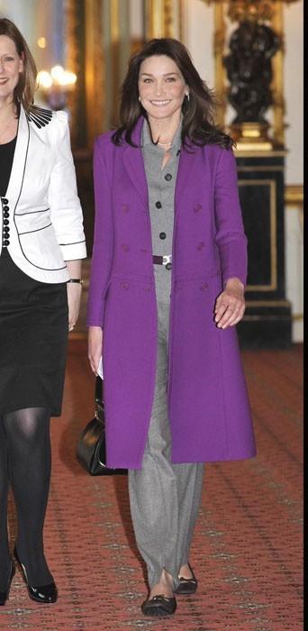 """Carla en purple """"reine"""" !"""