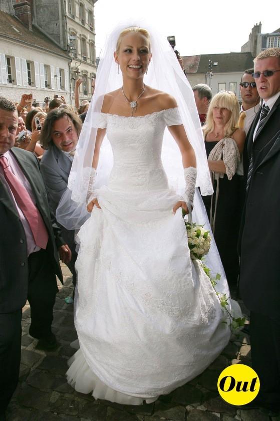 La robe de mariée d'Elodie Gossuin