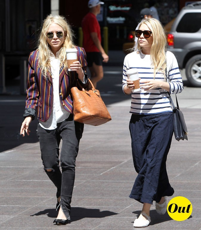 Rayures forever pour les soeurs Olsen en Juin 2006 !