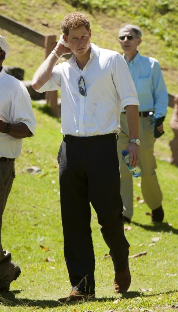 Le Prince Harry au temple des Mayas !