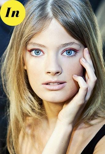 Maquillage tendance hiver 2011 : le fard à paupières rouge métal