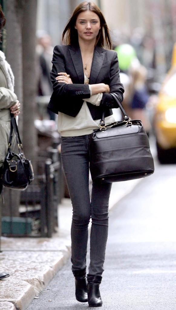 Miranda Kerr fashion en jean