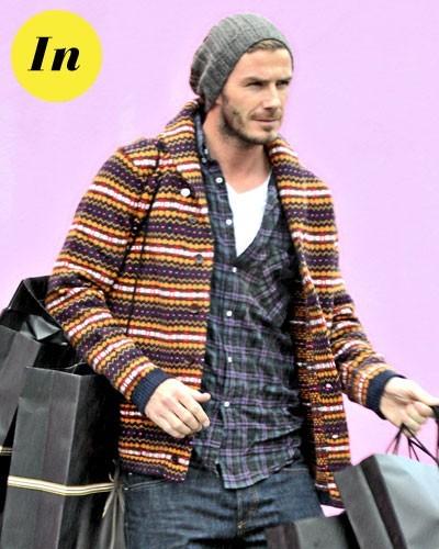 Mode homme 2011 : le gilet en maille de David Beckham