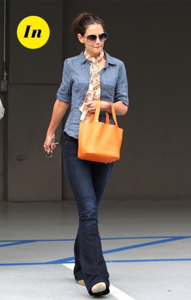 Katie Holmes et son mini Birkin Hermès