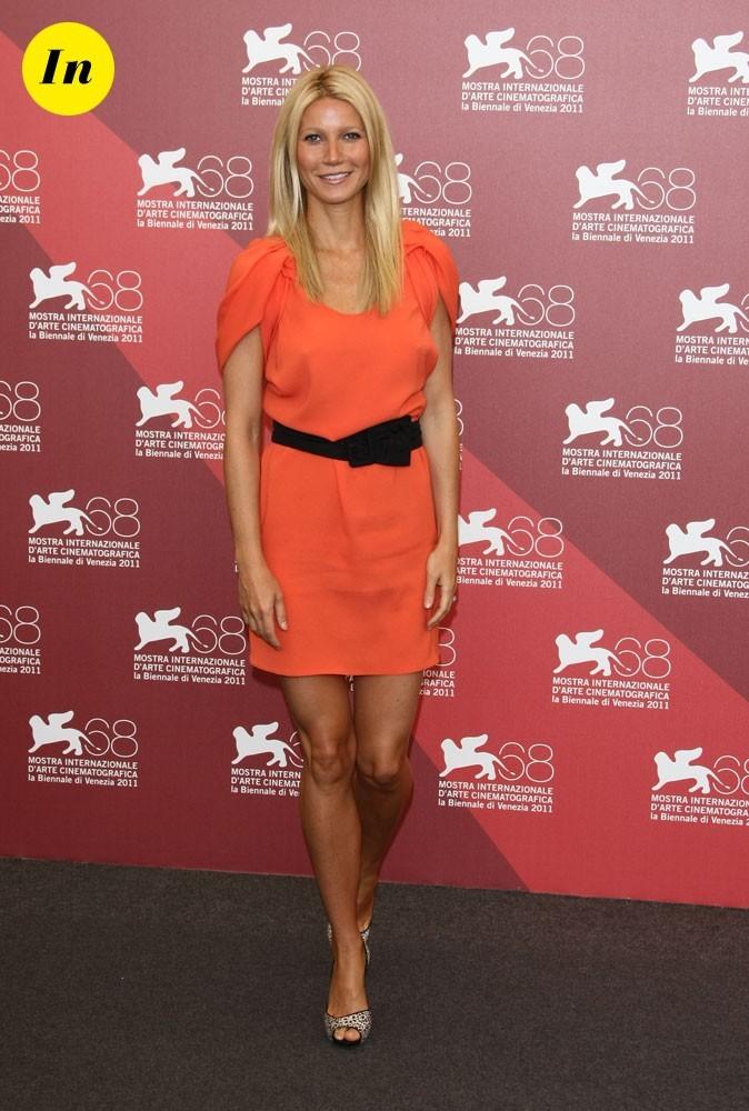 Mostra de Venise 2011 : la mini robe corail Prada de Gwyneth Paltrow