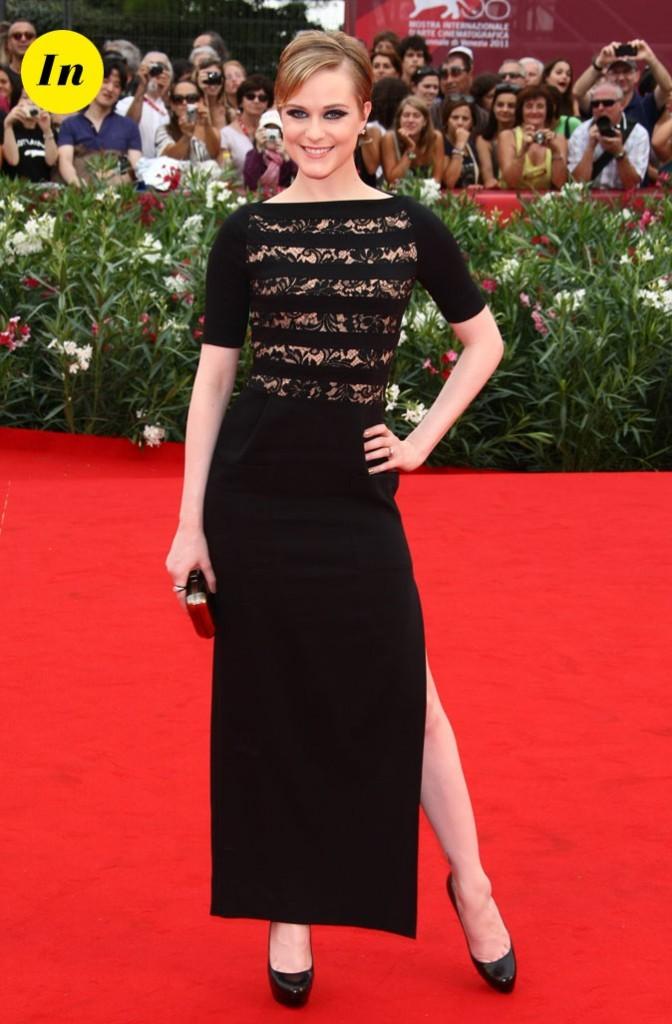 Mostra de Venise 2011 : la robe fendue Alessandra Rich d'Evan Rachel Wood