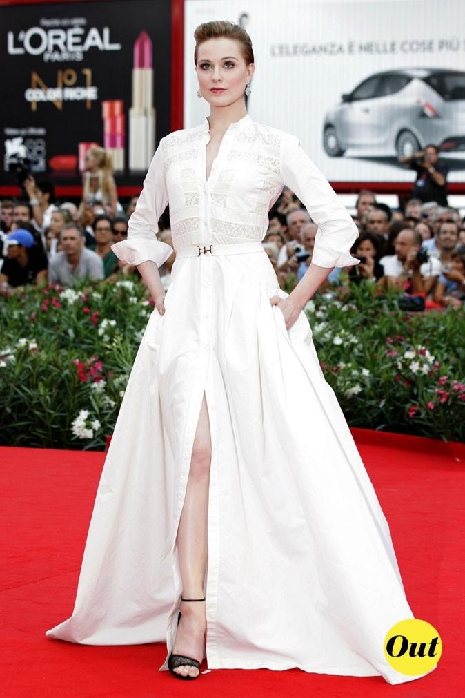 Mostra de Venise 2011 : la robe longue blanche Alessandra Rich d'Evan Rachel Wood