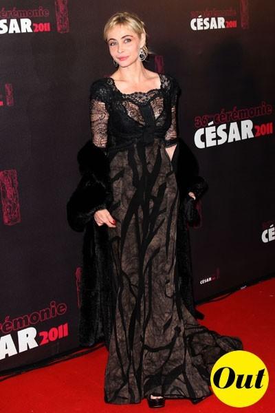Photos : César 2011 : la robe Elie Saab d'Emmanuelle Béart