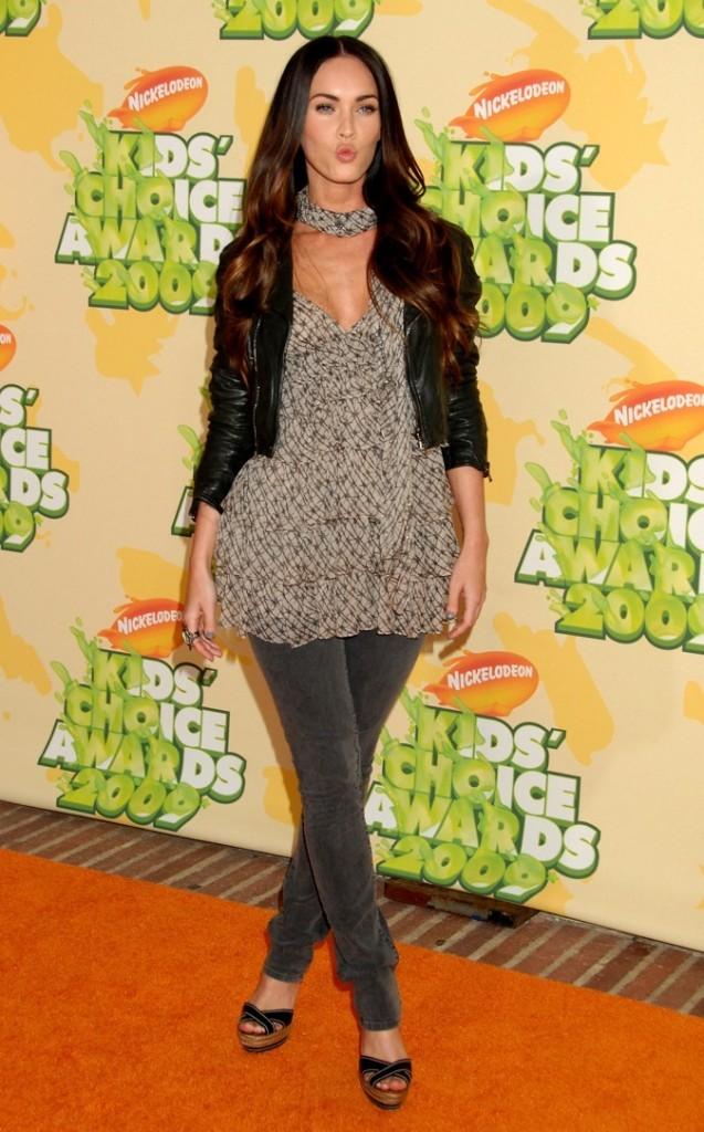 2009 : Megan Fox lors des Kid's Choice Awards en 2009 !
