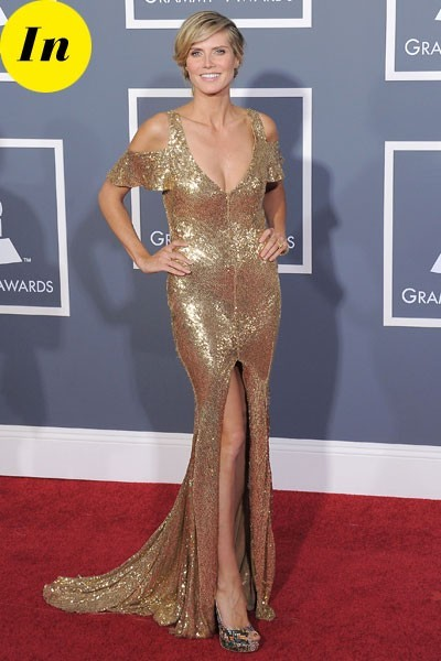 Photos : Grammy Awards 2011 : la robe d'Heidi Klum