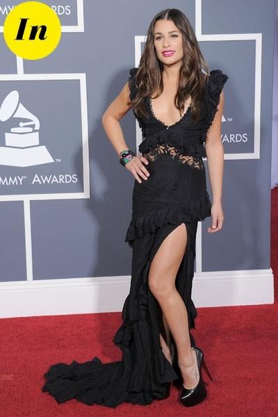 Photos : Grammy Awards 2011 : la robe Emilio Pucci de Lea Michele