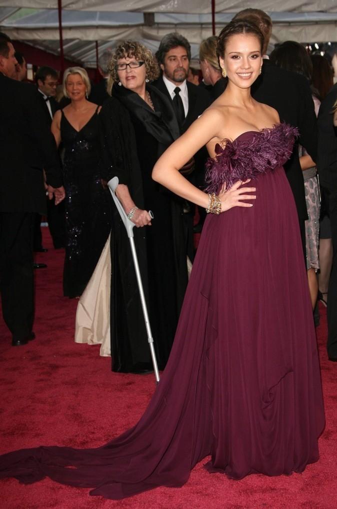 Jessica Alba, enceinte, aux 80ème Academy Awards !