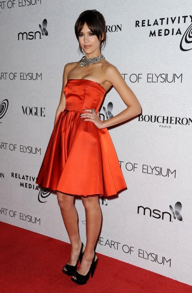 Jessica Alba 3ème au Gala du Art of Elysium 'Heaven' en 2010 à Los Angeles