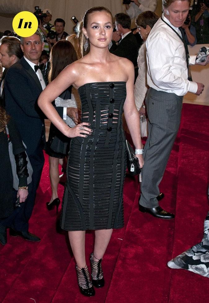 Photo look de star au MET Ball 2011 : la robe bustier Louis Vuitton de Leighton Meester
