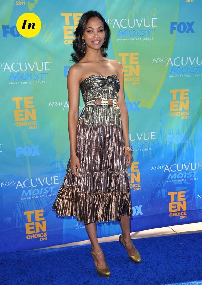 Le look de Zoe Saldana aux Teen Choice Awards 2011 !