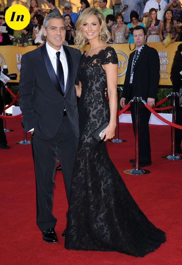 Costume Giorgio Armani pour monsieur et robe Marchesa pour madame