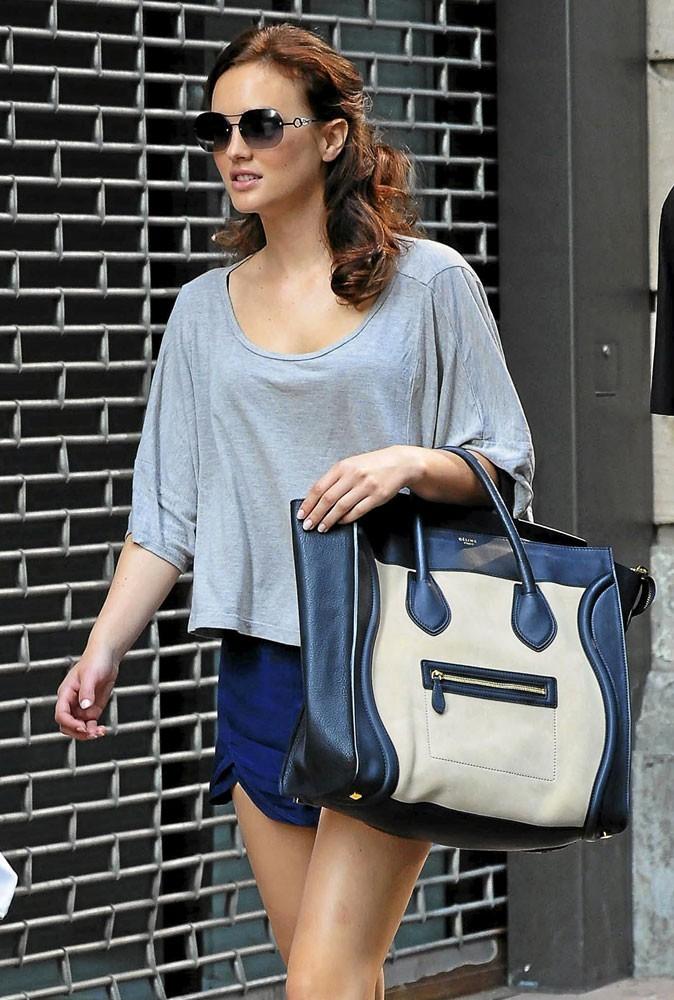 Leighton Meester a craqué pour le it bag Luggage de Céline