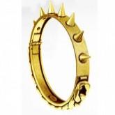 Bracelet à pics métal argent et doré, Chanael K
