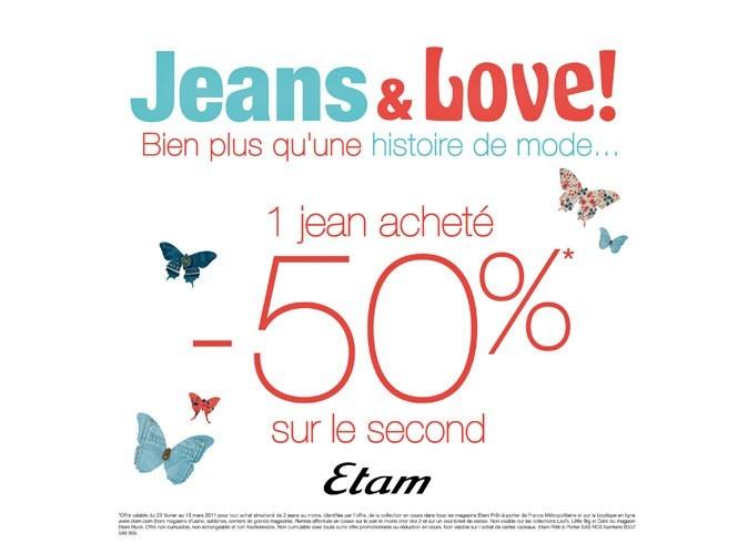 Bon plan mode : 50% de réduction chez Etam !