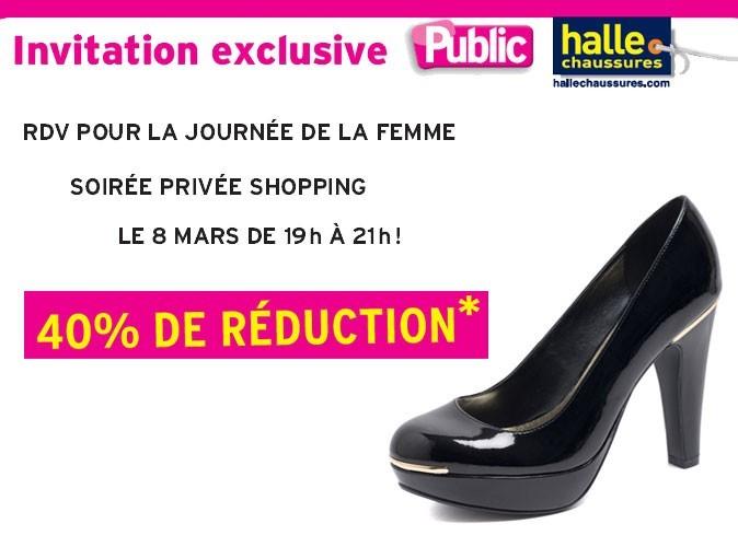 Bon plan mode : Public vous invite à la soirée privée shopping La Halle aux Chaussures !
