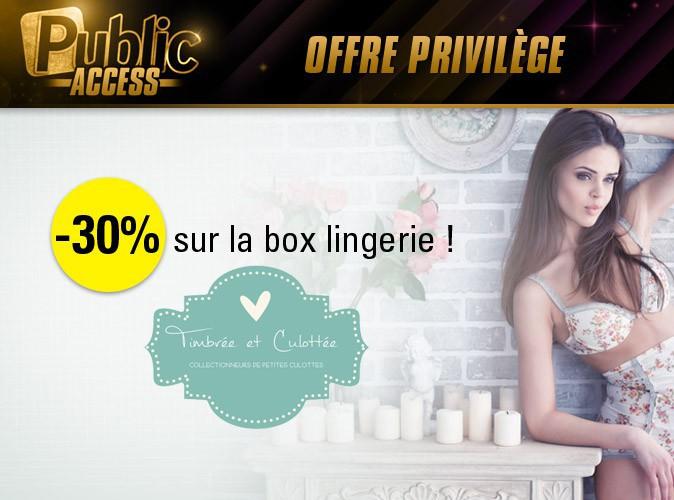 """Bon plan spécial """"Public Access"""" : -30% sur la box lingerie de la marque """"Timbrée et culottée"""" !"""
