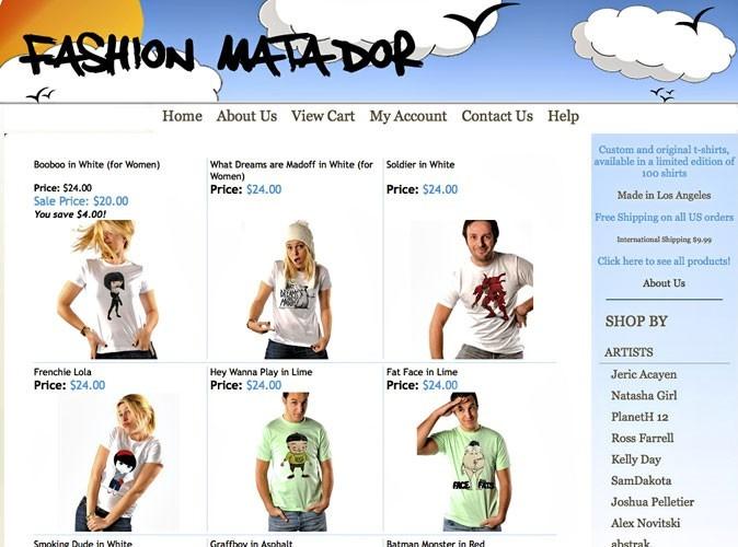 Fashion Matador : un site de t-shirts imprimés