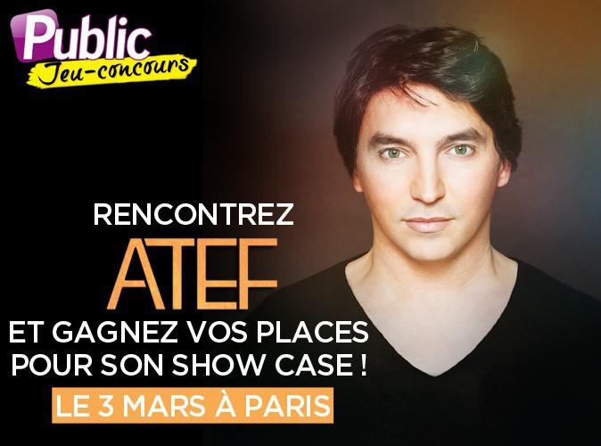 Grand jeu-concours : Public vous fait gagner vos places et des rencontres pour le showcase d'Atef (The Voice) !