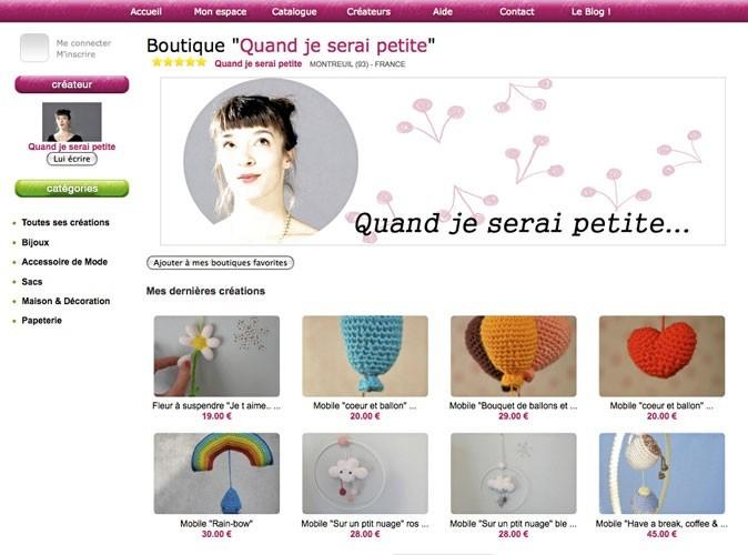 Quand je serai petite... : un site d'accessoires en tricot !