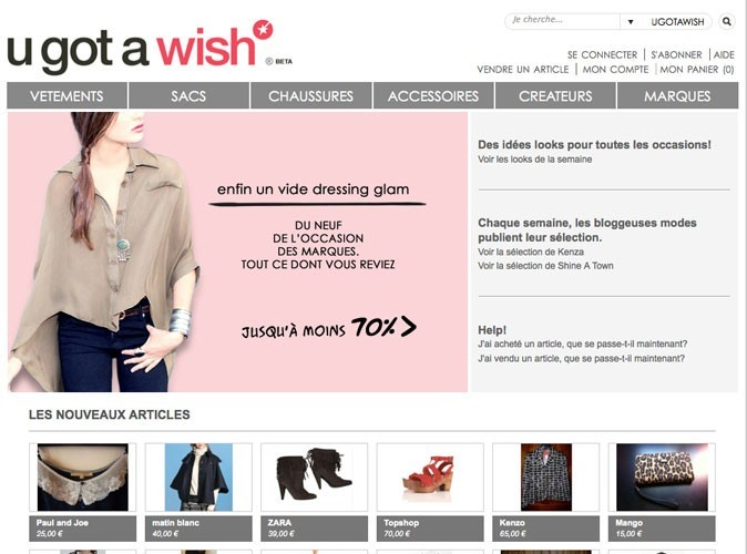 U got a wish : un vide-dressing très glam !