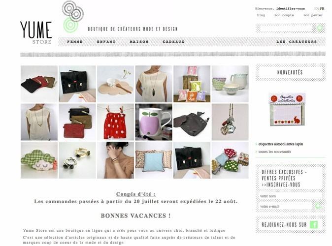Yume Store : l'e-shop des jeunes créateurs !
