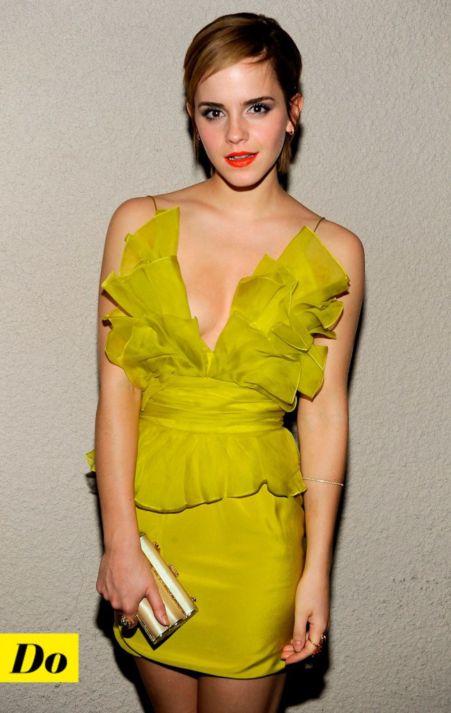 Emma Watson et la coupe garçonne.