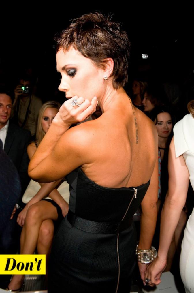 Victoria Beckham et la coupe garçonne.