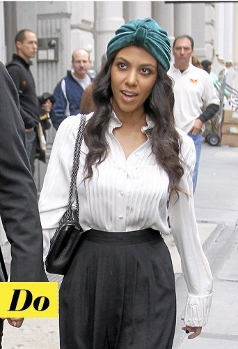 Le turban de Kourtney Kardashian