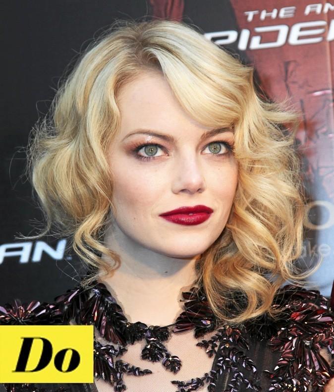 Le maquillage vamp, à copier sur Emma Stone !