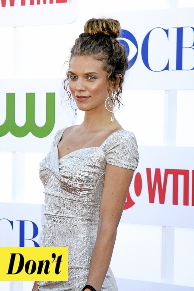 Le chignon bun version AnnaLynne McCord : don't !