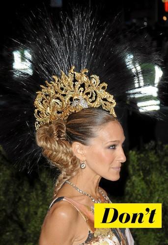 Evitez la coiffure bling ratée de Sarah Jessica Parker !