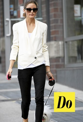 Olivia Palermo en black & white